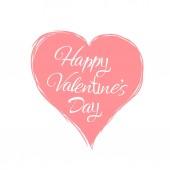 glücklich Valentinstag Hand Zeichnung Vektor Schriftzug Design.