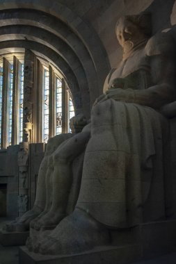 Leipzig, Germany - October 2018: Interior of The Monument to the Battle of the Nations, memorial of the defeat of Napoleon in the War of the Sixth Coalition at Leipzig City in Germany