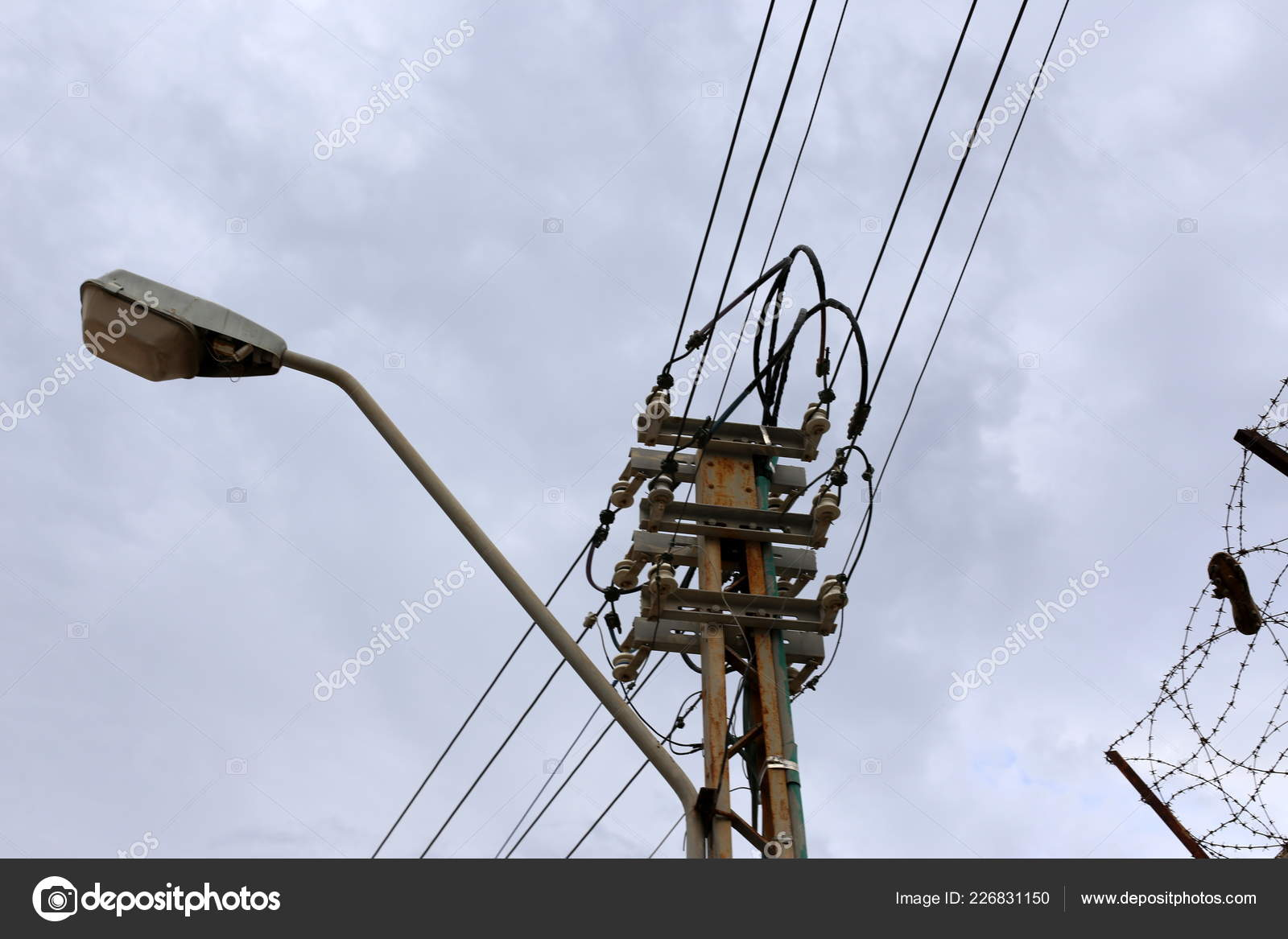 Astonishing Electrical Wires Support Which Electricity Stock Photo C Shimonbar Wiring Digital Resources Antuskbiperorg