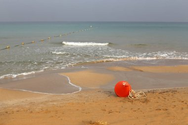 sandy shores of the Mediterranean in the north of Israel