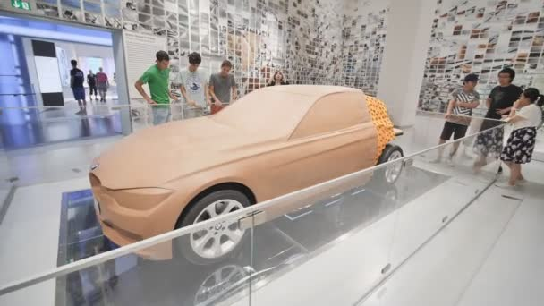 Munich, Germany - August 5, 2018: Exhibition of car dummies in the BMW Museum and BMW Headquarters, Munich, Bavaria, Germany.