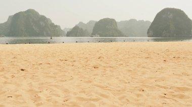 Ha Long Bay Beach. Vietnam.