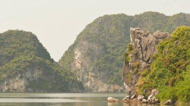 Mountain Ha Long Bay. North Vietnam country.
