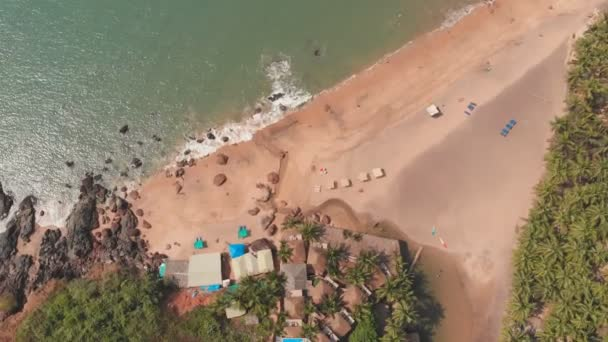 Aerial drone view Cola beach in the state of GOA in India