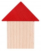 Photo Red beige wooden house