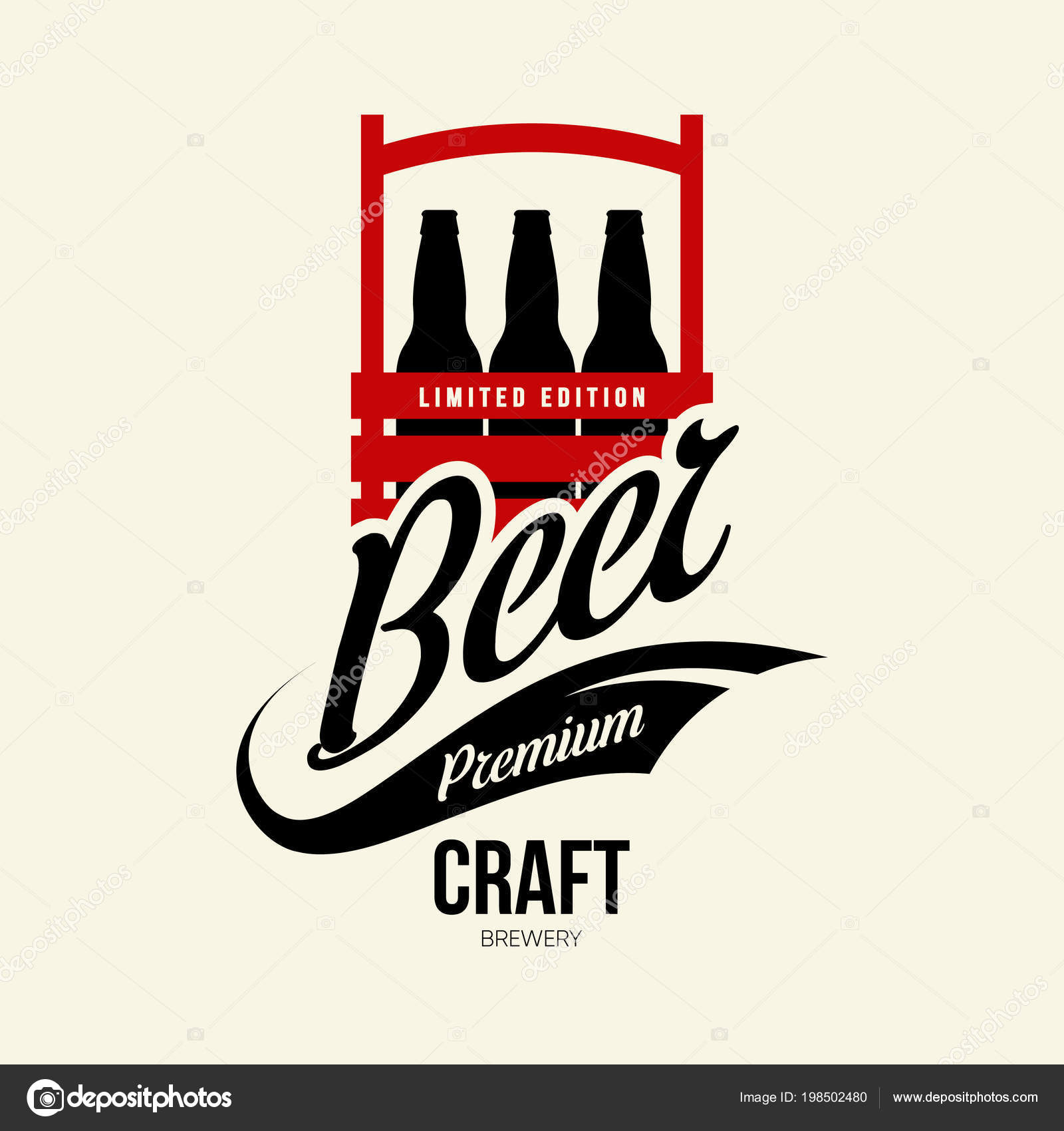 GroB Modern Craft Beer Drink Isolated Vector Logo Sign Brewery Pub U2014 Stock Vector