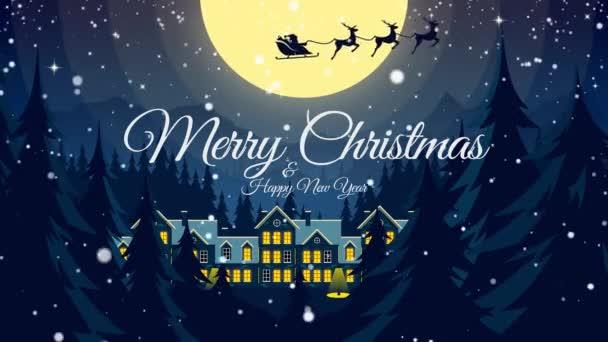 Video Groet Met Prettige Kerstdagen Gelukkig Nieuwjaar Santa Claus