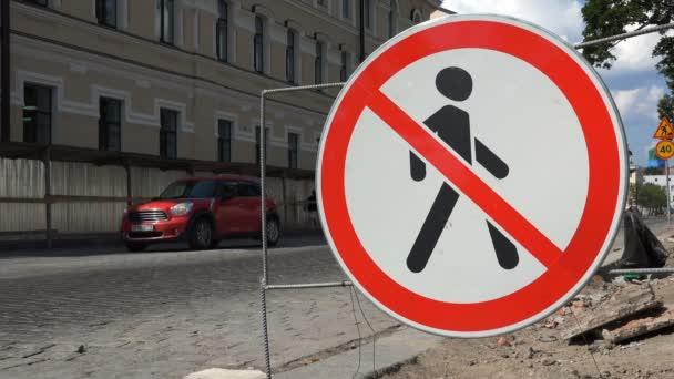 Fußgängerverkehr verbotenes Verkehrszeichen