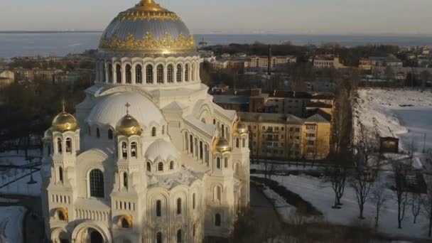 Blick auf die Marine Nilolsky Stauropegic Kathedrale von Kronshtadt