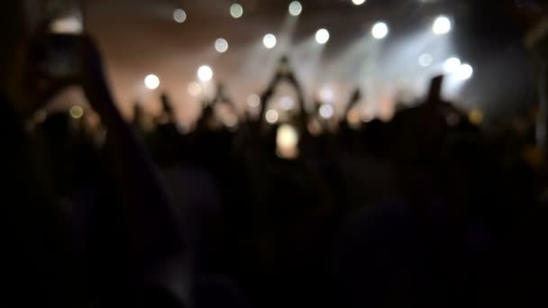 Concert Crowd Silhouettes, Slow Motion