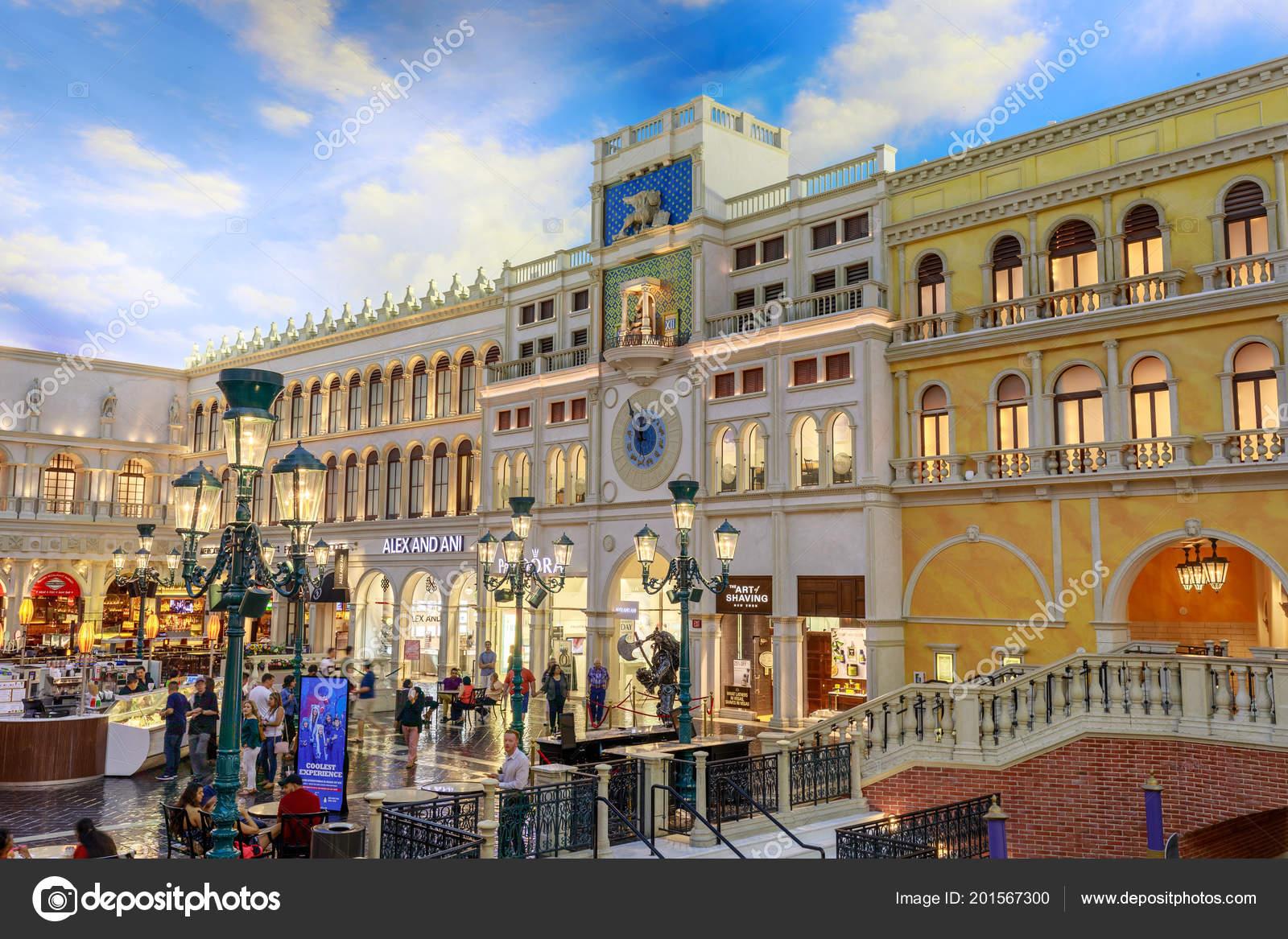 Las Vegas Nevada Mai 2018 Die Grand Canal Shoppes Venetian