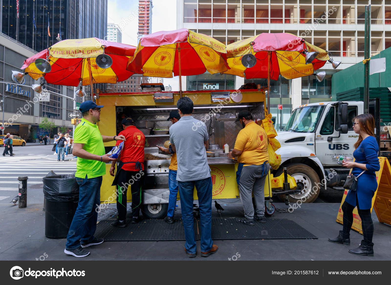 New York Usa May 2018 Halal Guys Street Food New – Stock