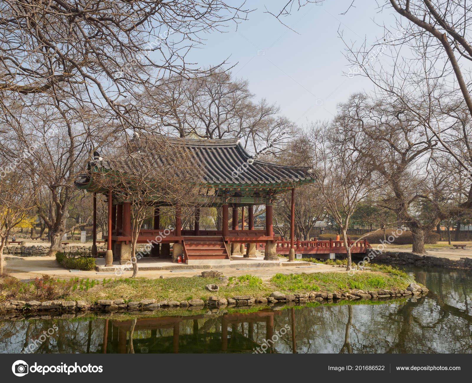 Namwon South Korea March 2018 Scenery Gwanghalluwon Garden Spring ...