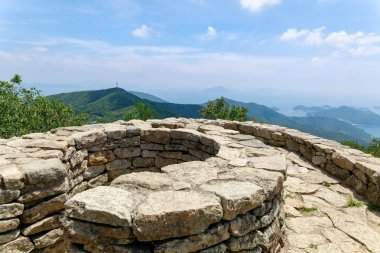 Old watchtower near Boriam temple in Geumsan Mountain, Namhae County, Gyeongsangnam-do