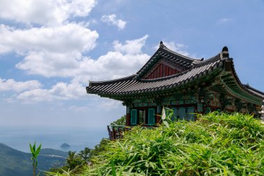 Boriam Buddhist temple scene in Geumsan Mountain, Namhae County