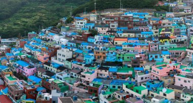 Panorama view of Gamcheon Culture Village located in Busan city of South Korea