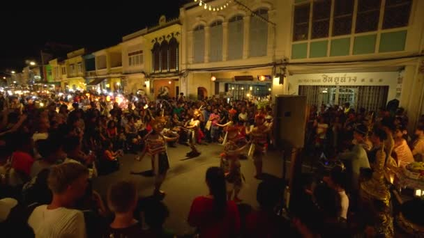 PHUKET, THAILAND December 23, 2018:Traditional thai dance. Crowd of people