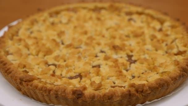 tasty freshly baked apricot tart