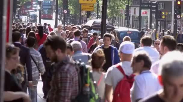 Crowd of People walking in the London's street- 20 April 2017, London, UK