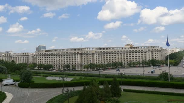 portrait of of Romanian Parliament. Bucharest, Romania