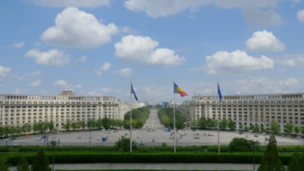 Suggestive view from Romanian Parliament. Bucharest, Romania