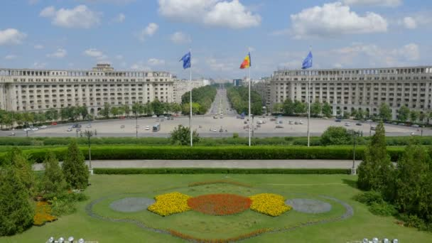 Beautiful view from Romanian Parliament. Bucharest, Romania