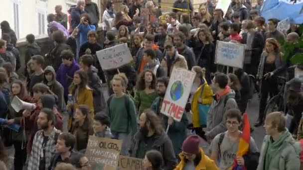 Rome, Italy,15 March 2019: Students marching in Rome at Global Climate Strike