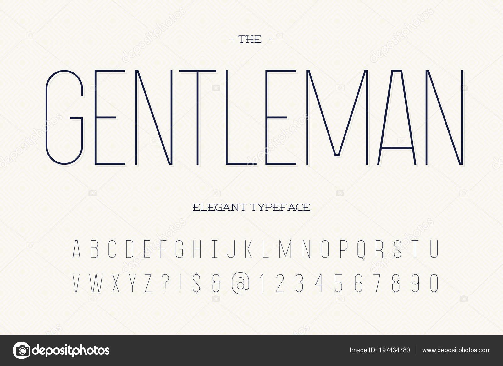 Gentleman elegant typeface  Modern typography sans serif style