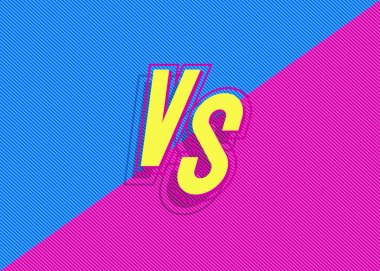 Vector versus background with vs sign modern blue pink color