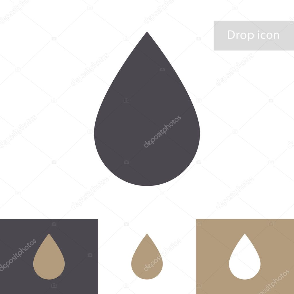 Drop vector icon isolated on different background