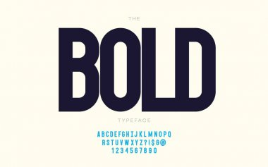 Vector bold font trendy typography for decoration