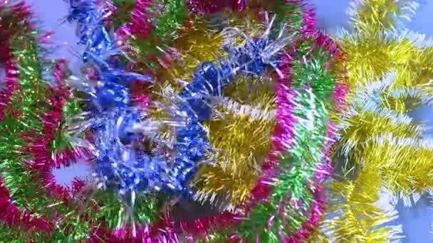 Kerst Klatergoud Frippery Valt Op De Tafel Nieuwjaar Kerstmis