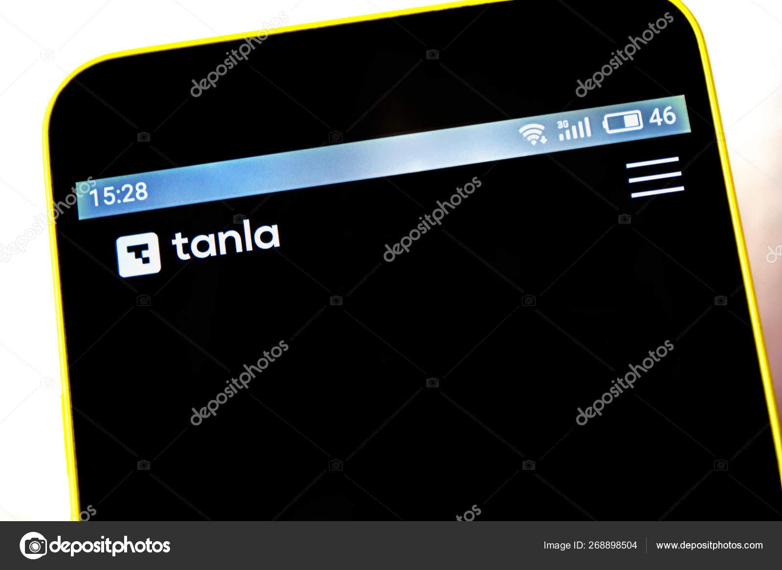 Berdyansk Ucrânia 5 De Maio De 2019 Editorial Ilustrativo Da Página Inicial Do Site Da Tanla Solutions Logotipo Da Tanla Solutions Visível Na Tela Do Telefone Fotografia De Stock Editorial Madamf 268898504