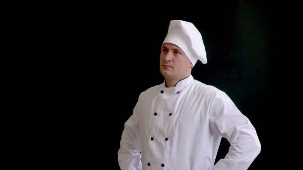 Portréja egy töprengő férfi szakács szakács keres el