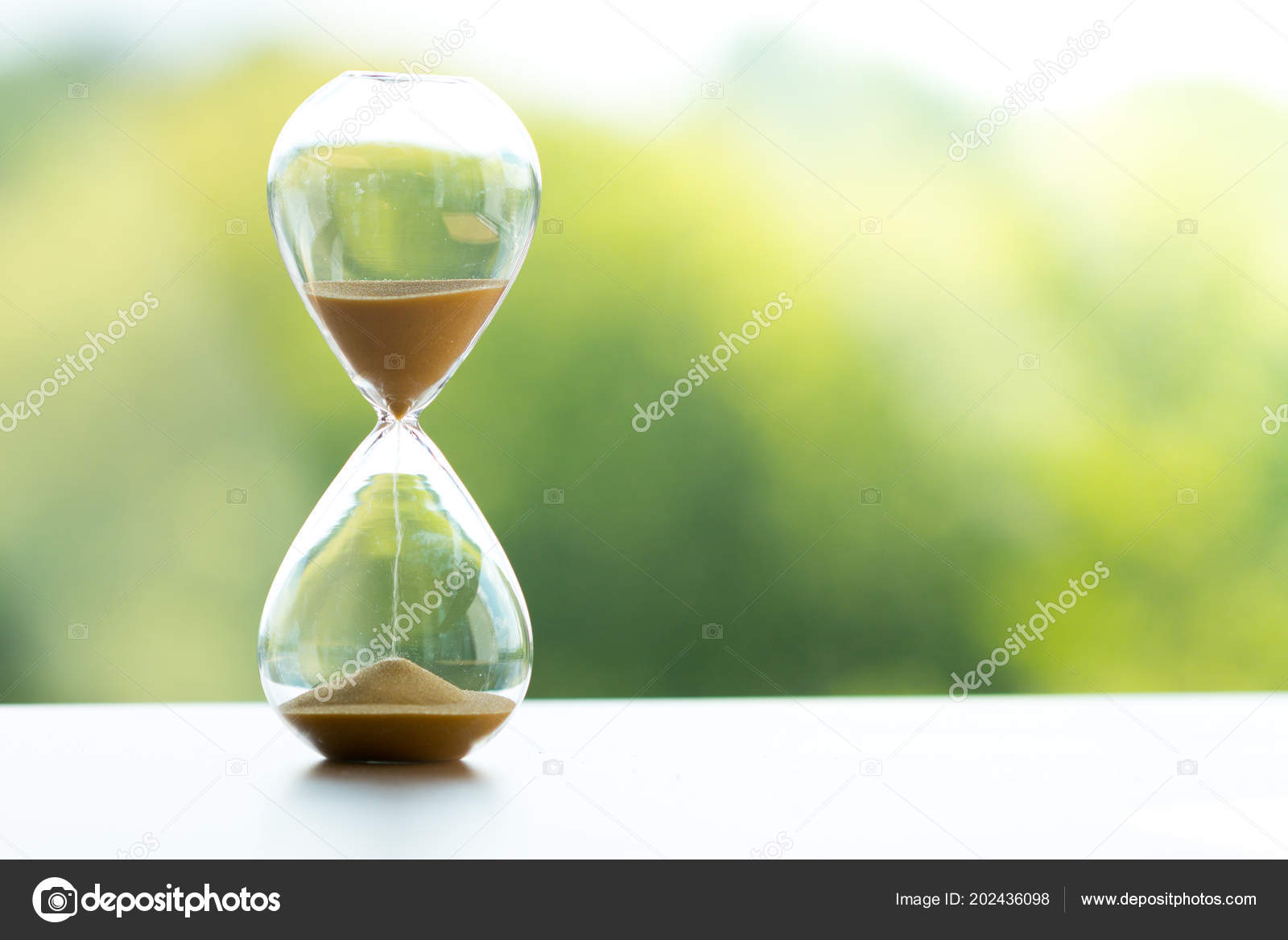 ebddc0db987 Relógio Areia Conceito Gestão Tempo Negócio — Fotografia de Stock