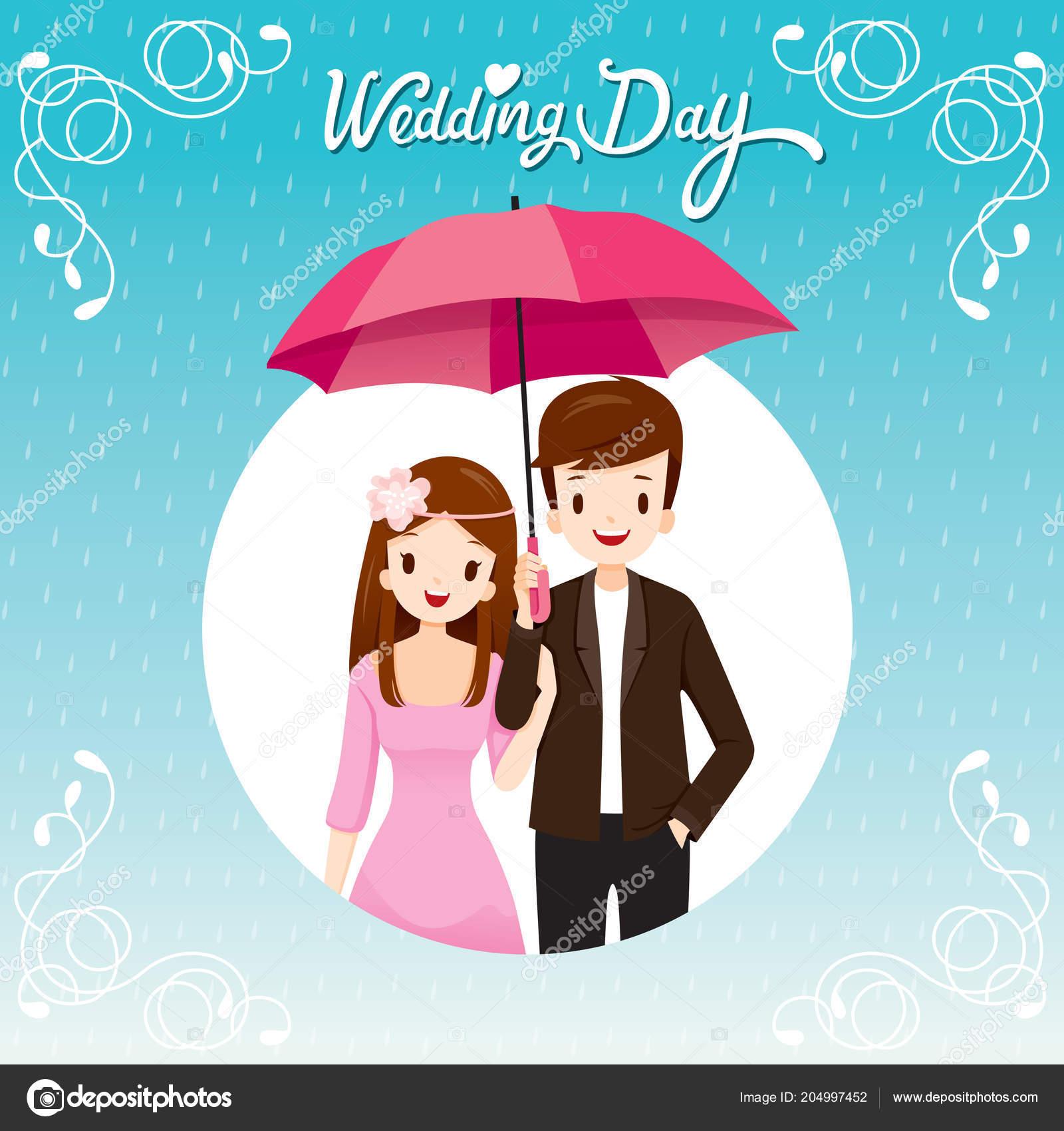 5ad192da6184 Couple Umbrella Together Rain Happy Rainy Season Circle Frame ...