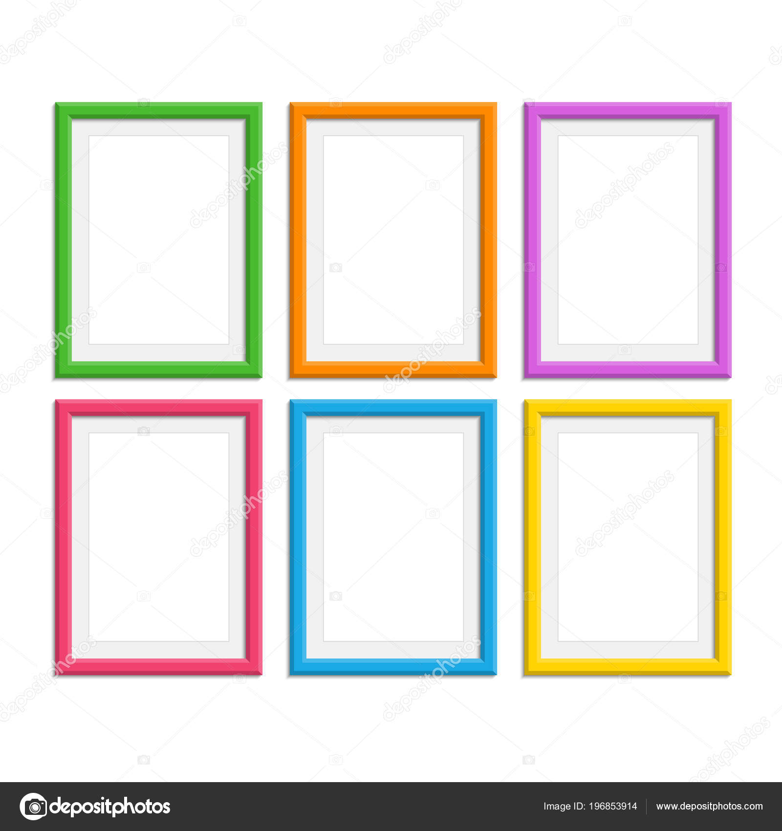 Colored photo frames set. — Stock Vector © art-sonik #196853914
