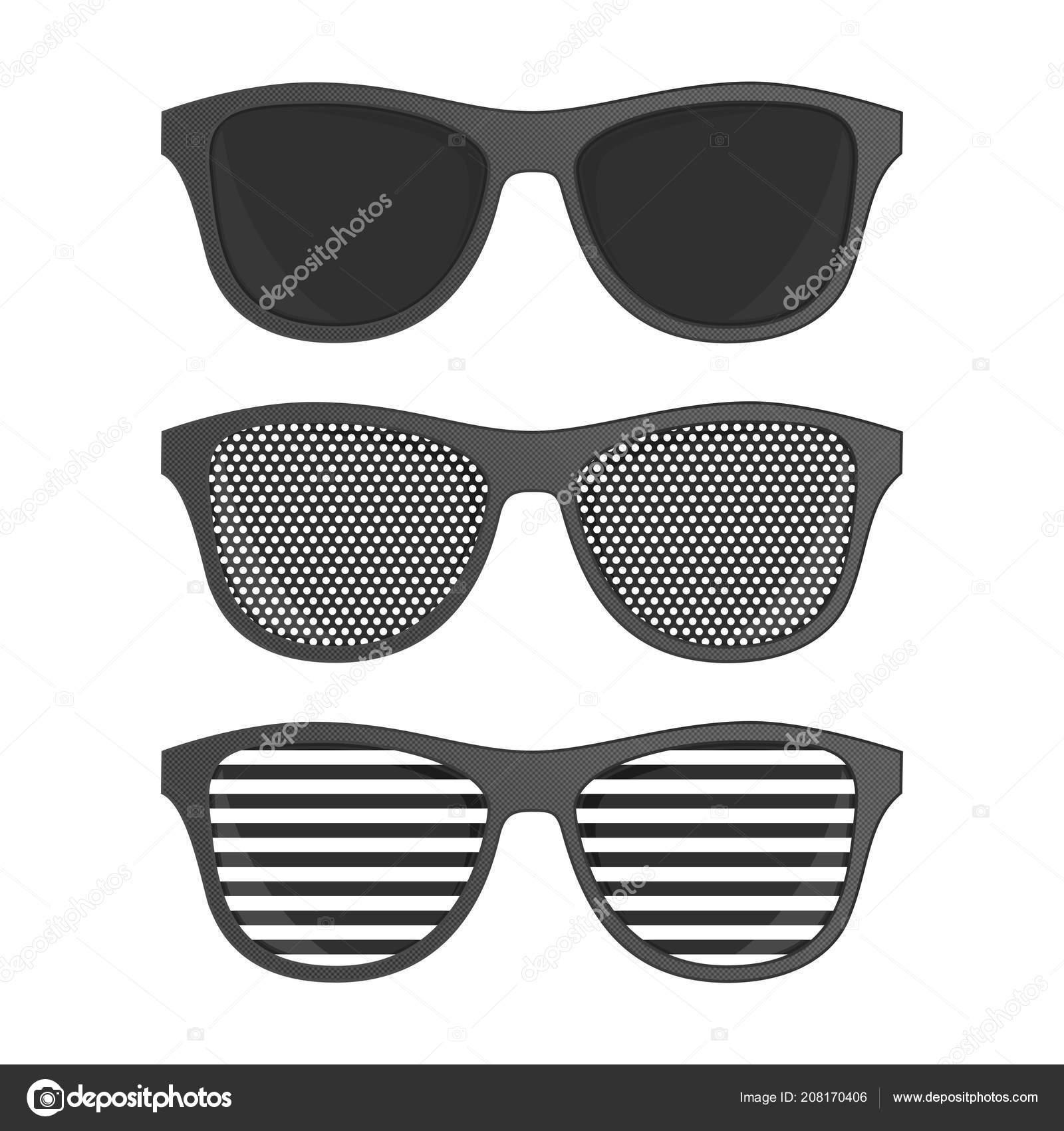d60e81db Gafas de sol de perforación rayas — Archivo Imágenes Vectoriales ...