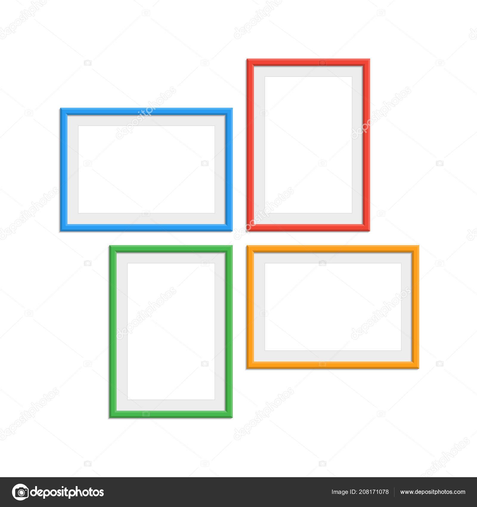 Farbige Foto-Rahmen-set — Stockvektor © art-sonik #208171078