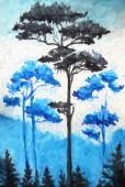 borovice umění malba ilustrace