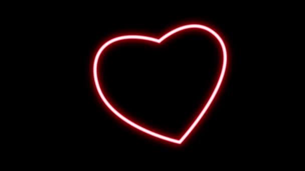 neon valentine sign video