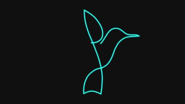 madár egy vonalas rajz