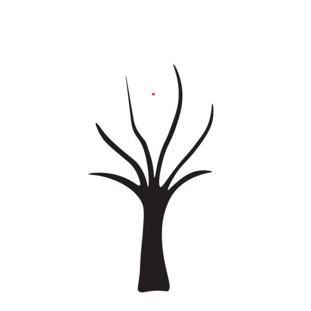 cute valentines hearts tree animation