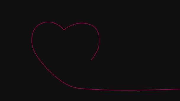 Srdce jeden řádek výkresu animace