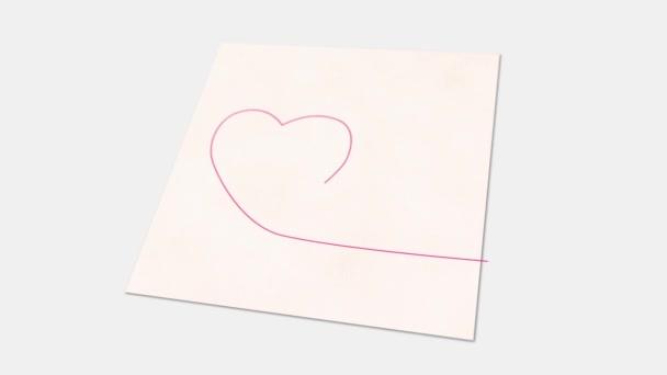 Szív egy vonalas rajz-animáció