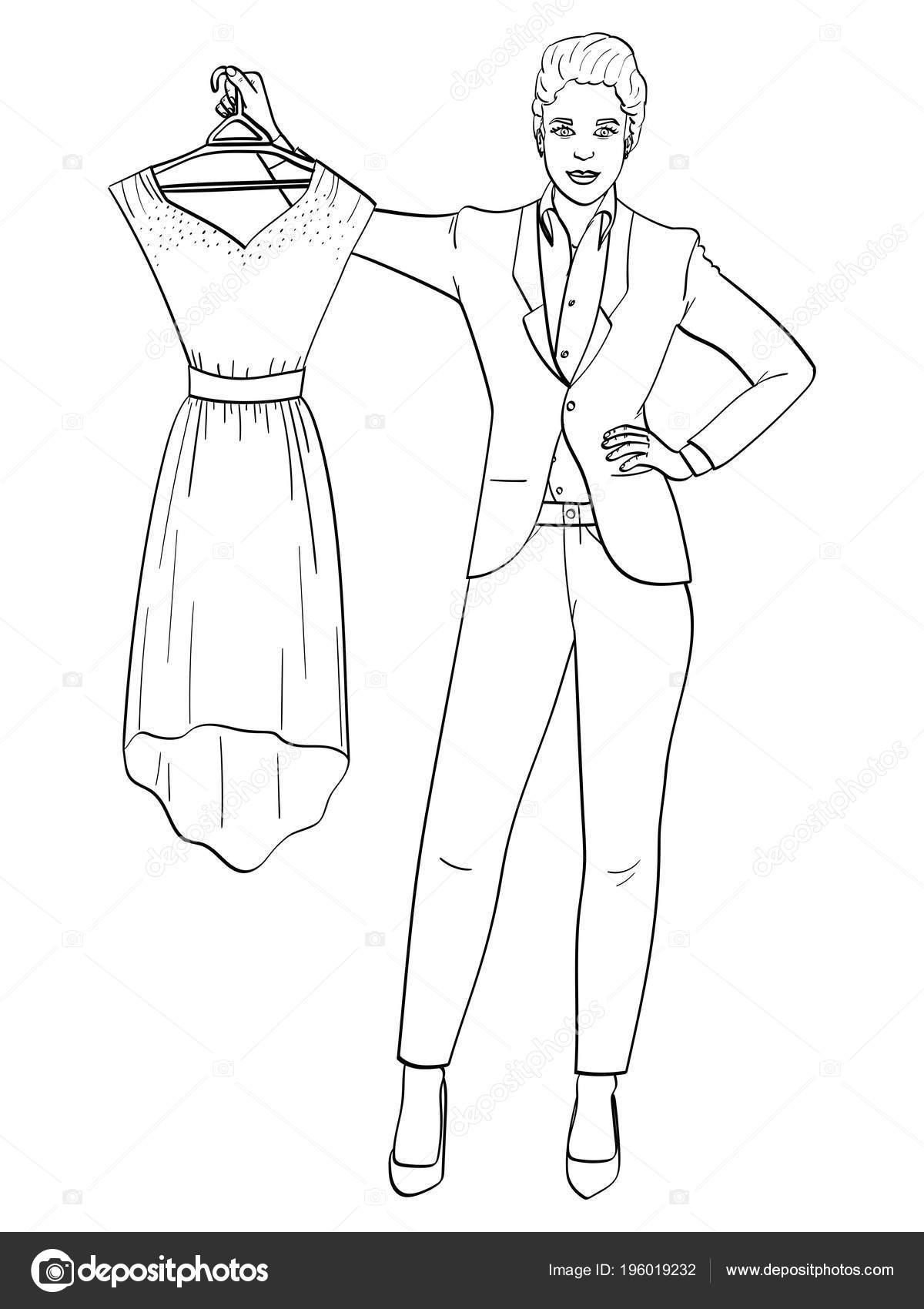 Yalıtılmış Nesne üzerinde Beyaz Arka Plan Kadın Bir Iş Takım Elbise