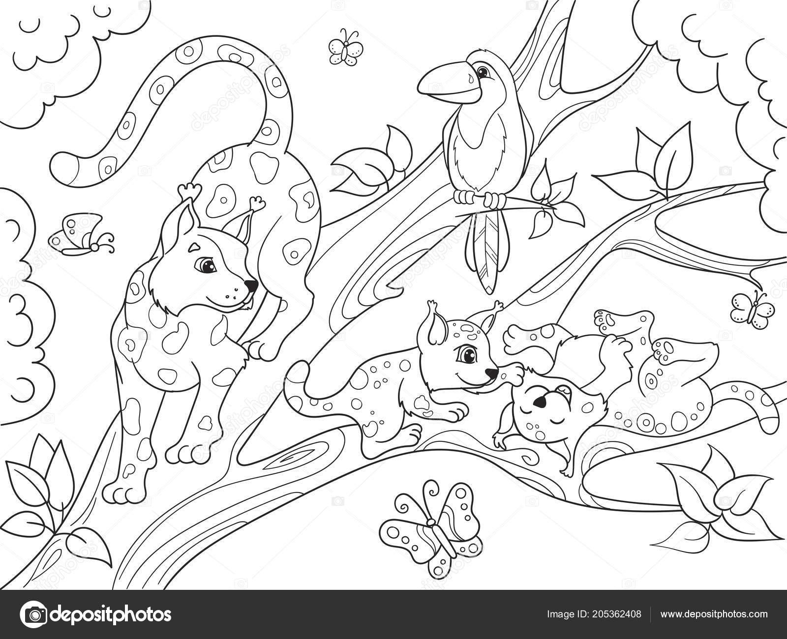 Para Crianças Colorir Família De Desenho Animado Do Livro De