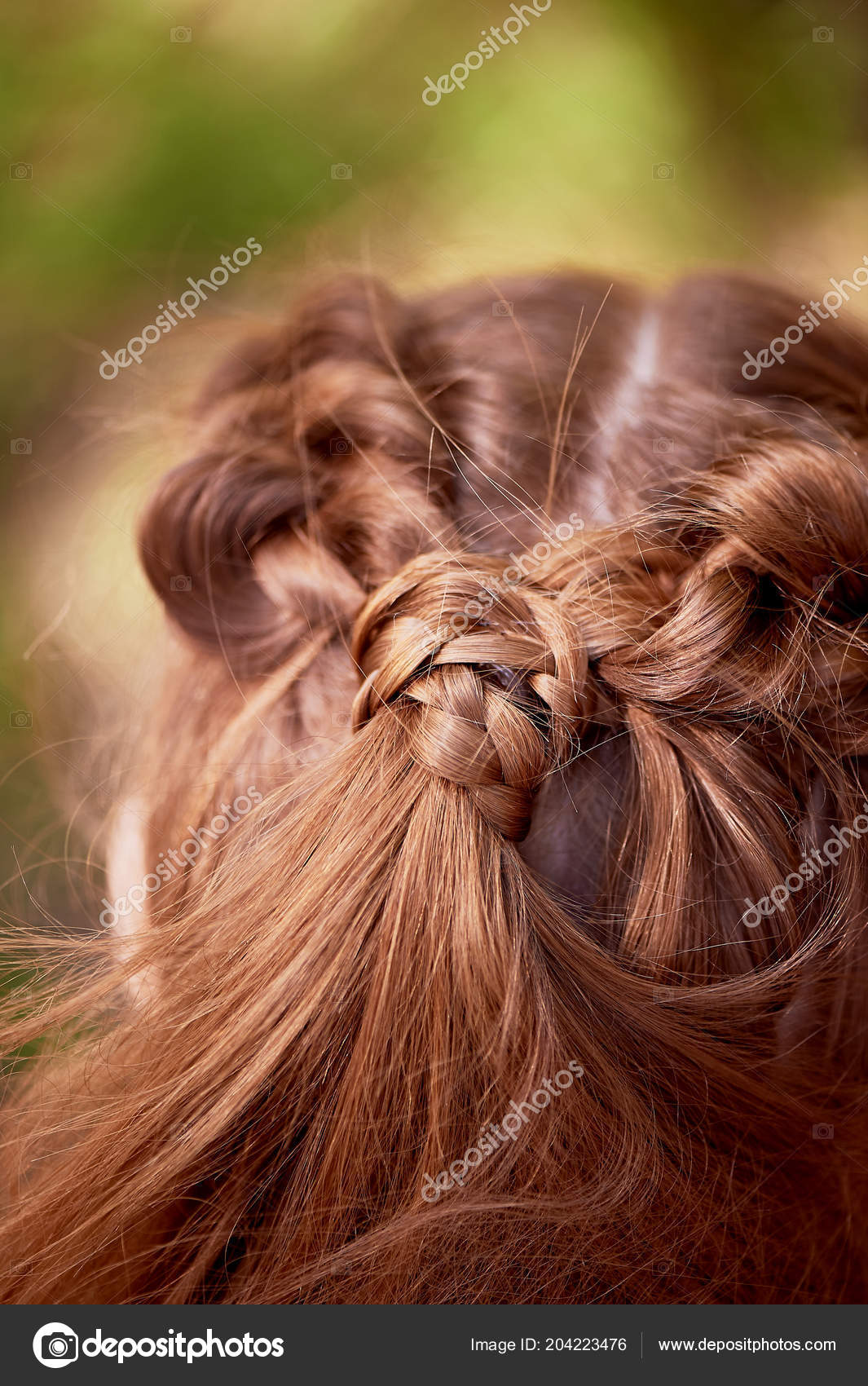 Wedding Hairstyles For Thick Red Hairhair Close Stock Photo