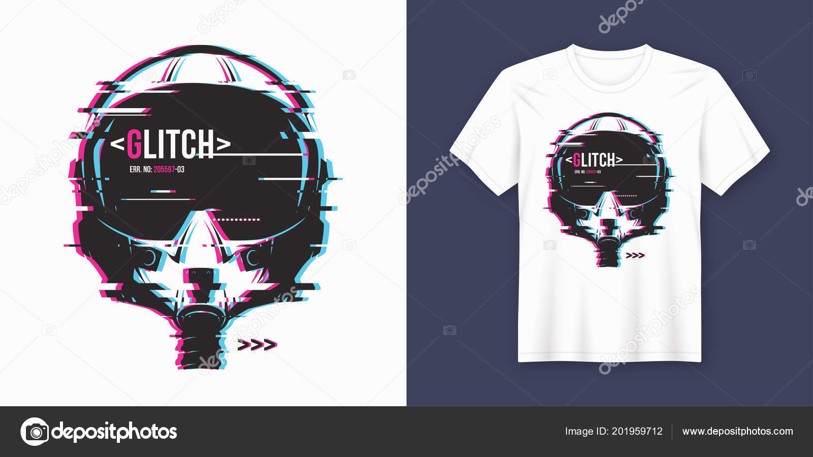 ed4c2196 Stylish t-shirt and apparel trendy design with glitchy flight he — Stock  Vector