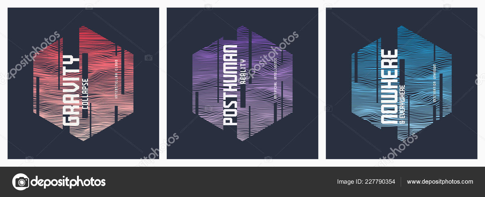 Abstract Sci Fi Geometric Vector T Shirt And Apparel Designs